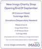 Imago Charity Shop Opening Late September
