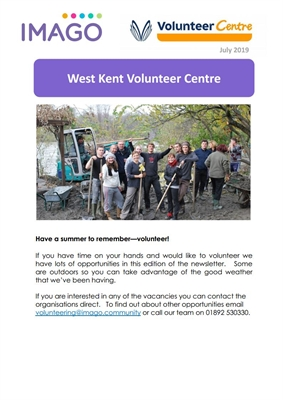Volunteering Newsletter July 2019