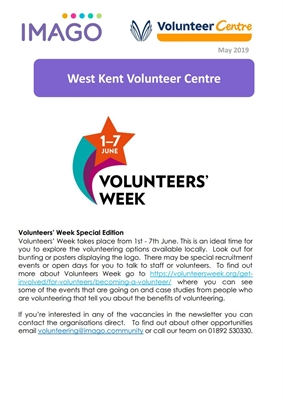 Volunteering Newsletter May 2019