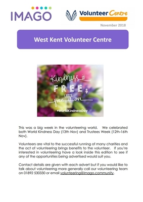 Volunteering Newsletter November 2018