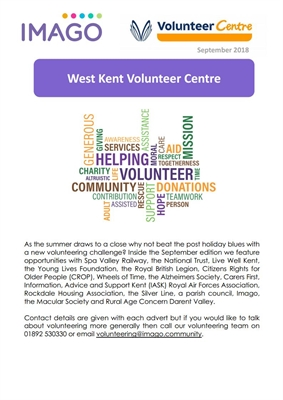 Volunteering Newsletter September 2018