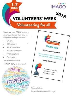 Imago Celebrates Volunteers Week 2018