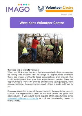 Volunteering Newsletter March 2019